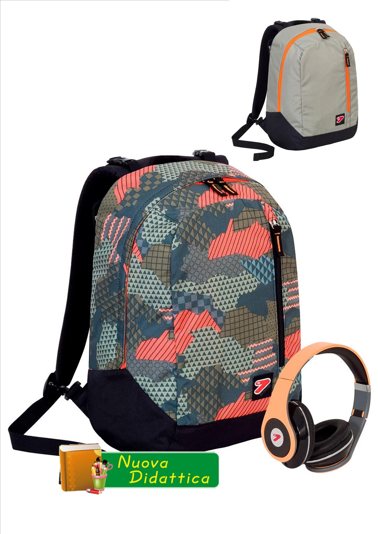 ZAINO SEVEN THE DOUBLE REVERSIBILE camouflage GREEN