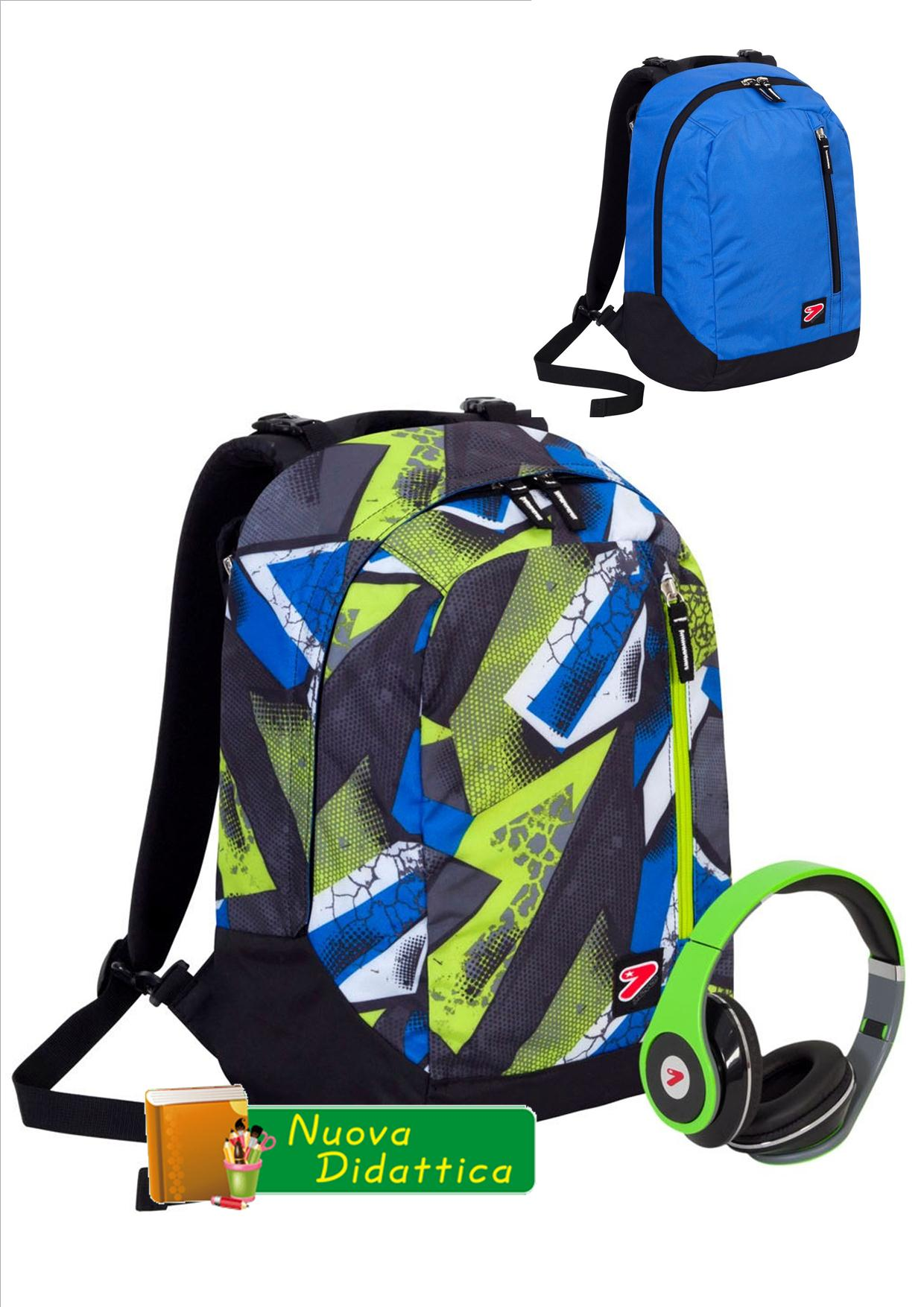 ZAINO SEVEN THE DOUBLE REVERSIBILE Ice Patch Fluo Green